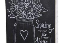 ChalkBoard Wall Ideas / by McKayla Shook