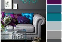 Ideas for purple and grey living rooms