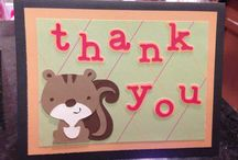 Thank You Cards - Amanda's Creations / Cricut Create a Critter Thank You Cards