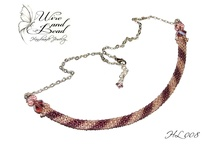 Bead snake necklace - Horgolt gyöngykígyó nyaklánc