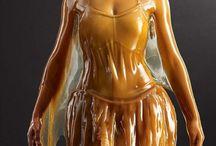 Amazing Photography Art - Honey covered Human Models