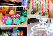Mermaid Party / Mermaid party games, mermaid party food and inspiration for a mermaid party.