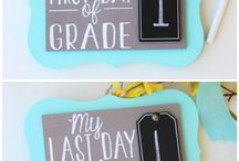 Back To School project ideas / Get ready to send the kids back to school with a little vinyl and HTV.