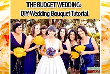 """The Budget Wedding: DIY Wedding Bouquet Tutorial / Brides can still save money and keep their wedding """"green"""" by making their own bouquet out of paper. It is a gorgeous way to add a personalized touch to your wedding and it is one of those things that are so unique, others will appreciate it.  http://www.kimberleyandkev.com/budget-wedding-diy-wedding-bouquet-tutorial/"""