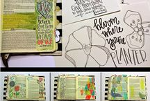 Creative Journaling & Art Therapy / This is a conglomeration of Bible Creative Journaling and art therapy pages/inspiration.