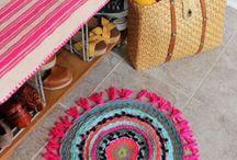 alfombra tejida