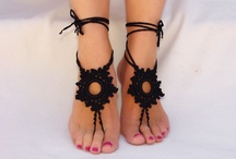 knitted sandal
