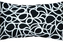 Black and White Decor: Black and White Throw Pillows