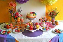 cumpleaños de arcoiris