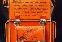 Men's handmade messenger bag, Human Mecanics №2