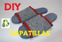 Reciclaje de tela y vaqueros Recycle cloth/jeans / Reciclaje de tela jeans,vaquero,mezclilla #diy #manualidades #reciclaje