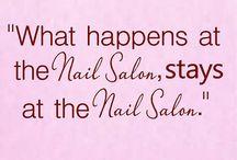 nail salon decor