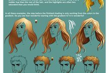 Coloring tutorial - Hairs
