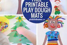 play dough mats and ideas