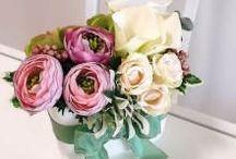 Artifical flower arrangements
