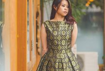 Batik & songket dress