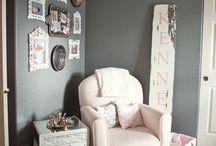 "Bella Mikaela's Nursery Ideas / Greys, Purples, Blacks, Modern designs for Bella""s nursery :) / by Eloisa Docton"