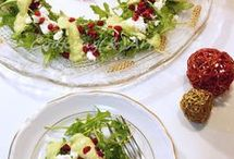 χριστουγενιατικη σαλάτα ρόκα