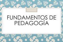 FUNDAMENTOS DE PEDAGOGÍA