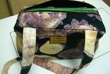 Bolsa de pintor / Bolsa de pintor con tela de estampado de leña. Superpractico