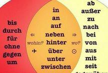 Deutsch lernen / Saksan kielioppia ja harjoituksia