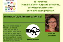 Appetite Solutions / Michelle Buff is a Food Consultant who offers phone consultations and classes, specializing in helping children with limited appetites.  http://michellefbuff.wix.com/appetitesolutions