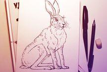 Inktober 2015 / My sketches of animals.  #inktober #inkdrrrwing