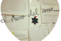 Muro del amor / Os presentamos nuestro muro del amor. Este es el muro en el que colgamos todos los mensajes bonitos de clientes como vosotros, fotos que no enviaís, o dibujo y mensajes de vuestros hijos
