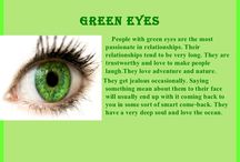green eyes..