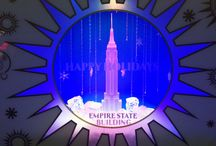Empire State Building Holiday Exhibit / Scaled models of the iconic building in fantastic holiday settings on display in their 5th Ave lobby. Designed by Mark Stephen Production