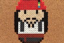 Nabbi pyssla pixel art perler bead