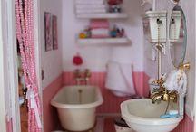 Miniatyr bad & toalett