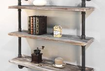shelf vintage wood