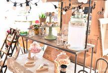 Location charrette en bois pour Mariage et bar à thème / Voici quelques exemples de réalisations de candy bar et bar à limonades avec notre charrette en bois
