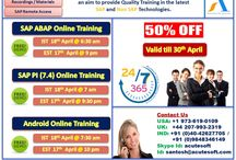 Half Price!!!! 50% OFF on SAP ABAP, SAP PI (7.4) and Android Online Training from AcuteSoft
