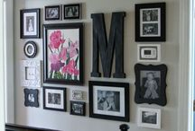 Picture frames wall ideas