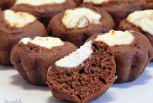 шоколадные Мафины-ватрушки с творогом