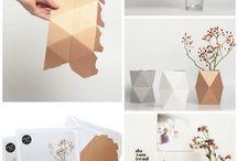 objetos de carton
