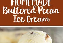 ice cream and creamy desserts