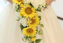 esküvő napraforgó