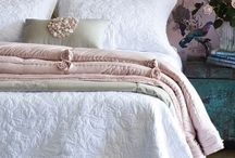White bed spread color combos / by Kristina Fey
