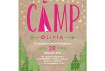 Kaydi Bishop | Kid's Glamping Party Invites & Accessories / A rustic yet chic collation of personalizable items for a Glamping or Camping themed kid's birthday party.