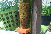 bird house & bird feeder