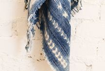 Mudcloth #buntinginspiration / Embroidered indigo mud cloths