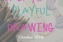 31 Days of Playful Drawing & Blogtoberfest 2014