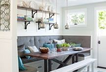 dining room ideas / A dining room can be casual, fun, bright, or formal. I love these dining room ideas and inspiration for the home! / by Our house now a home