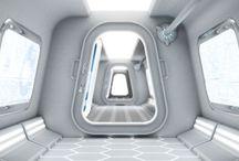 Spaceship interior design / Interior design