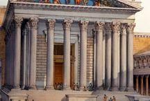 FOROS IMPERIAIS / Foro de César Templo de Mars Ultor Foro de Traxano Basílica Ulpia Columna de Traxano Exedra de Traxano