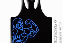 Bodybuilding Clothing / Bodybuilding Gym Stringer Vest.  Men's Wear2gym Y backed stringer vest, Bodybuilding apparel since 2004.