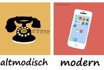 nemčina obrázky, pomôcky